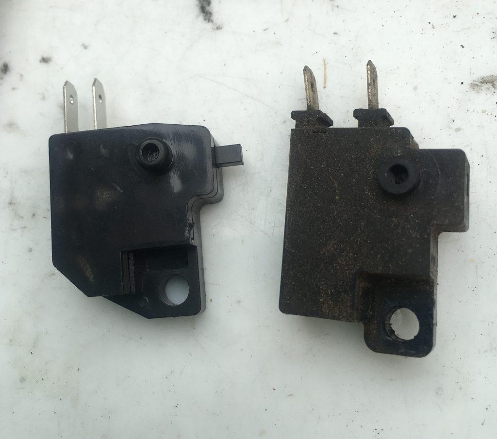 ブレーキスイッチの形状の比較